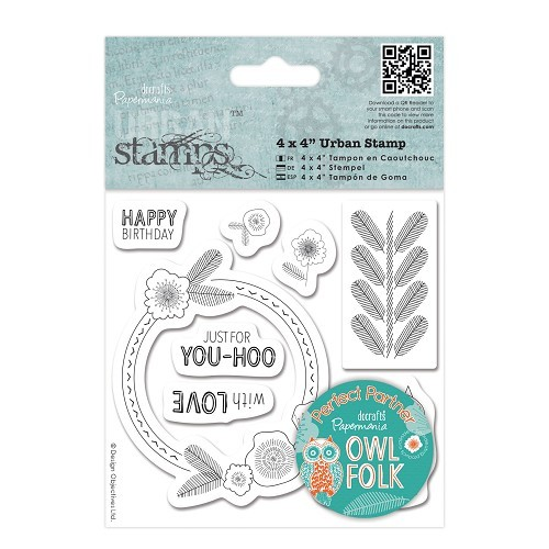 DoCrafts - Clearstamp - Urban stamps Owl folk