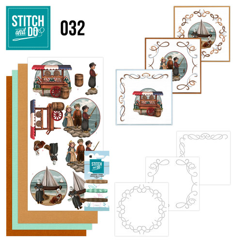 Card Deco - Stitch and Do - Borduurset 32 - Oud Hollands