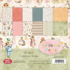 Craft & You Design - Small paper pad - Birthday Party