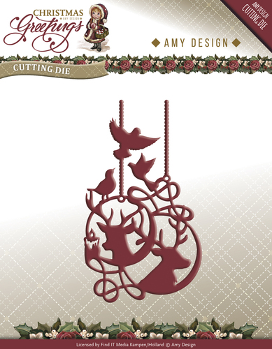 Amy Design - Die - Christmas Greetings - Reindeer Ornament