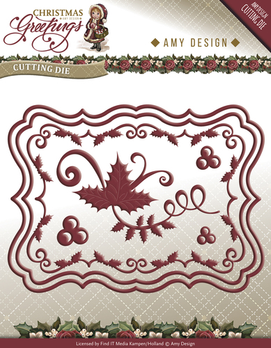 Amy Design - Die - Christmas Greetings - Christmas Card Set