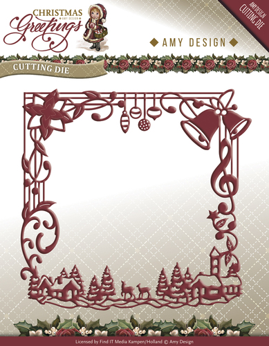 Amy Design - Die - Christmas Greetings - Christmas Greetings Frame