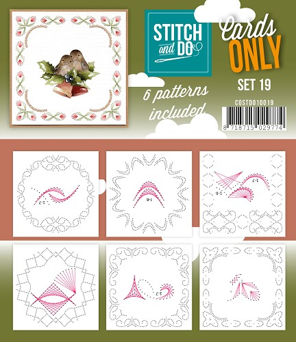Card Deco - Stitch & Do - Cards only - Set 19