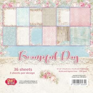 Craft & You Design - Small paper pad 6x6 Beautiful Day