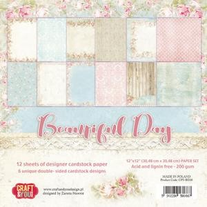 Craft & You Design - Big paper set 12x12 Beautiful Day
