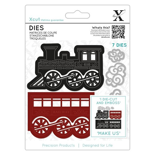 DoCrafts - Xcut - Dies (7pcs) - Christmas Train