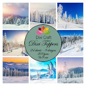 Dixi Craft - Toppers - Winter Landscapes