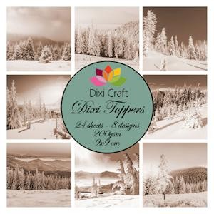 Dixi Craft - Toppers - Winter Landscapes Sepia