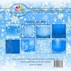Dixi Craft - Paperpack - Christmas Joy Blue