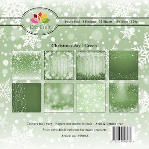 Dixi Craft - Paperpack - Christmas Joy Green
