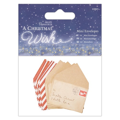 DoCrafts - Mini Envelopes (10pcs) - A Christmas Wish
