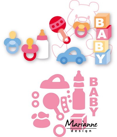 Marianne Design - Die - Collectables - baby essentials