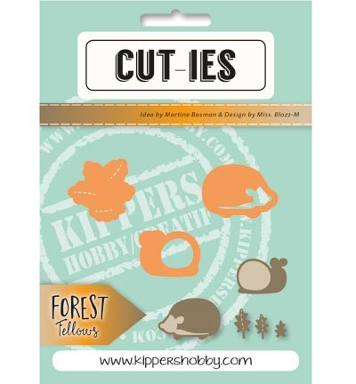 CUT-IES - Die - Forest Fellows - Snail Hedgehog Autumnleaves