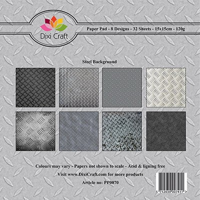 Dixi Craft - Paperpack - Steel background