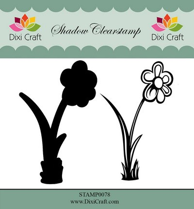 Dixi Craft - Shadow Clearstamp - Flower 3