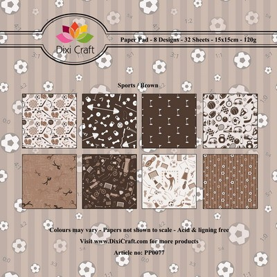 Dixi Craft - Paperpack - Sports background bro...