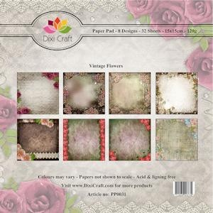 Dixi Craft - Paperpack - Vintage Flowers