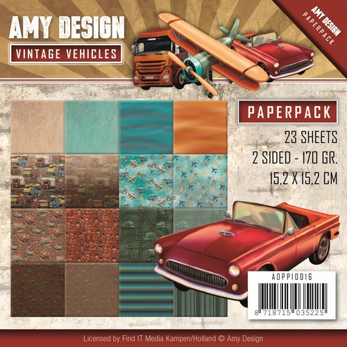 Amy Design - Paperpack - Vintage Vehicles