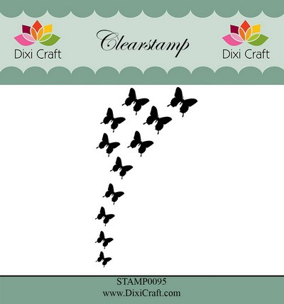 Dixi Craft - Clearstamp - Butterfly burst