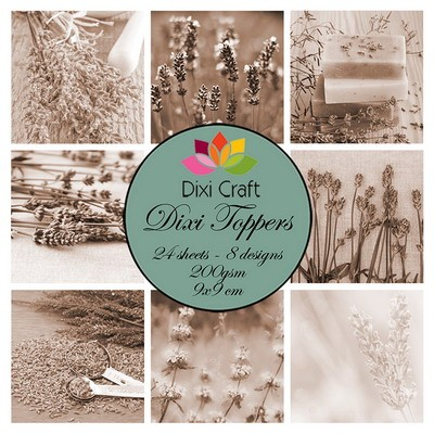 Dixi Craft - Toppers - set Lavender sepia
