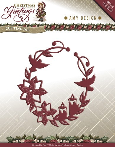 Amy Design - Die - Christmas Greetings - Shooting star