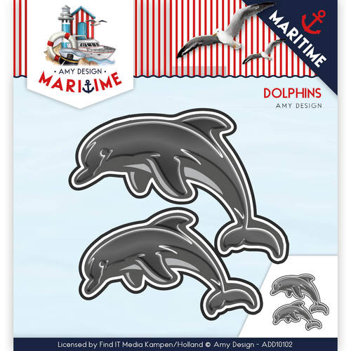 Amy Design - Die - Maritime - Dolphins