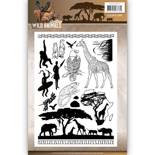 Amy Design - Clearstamp - Wild Animals