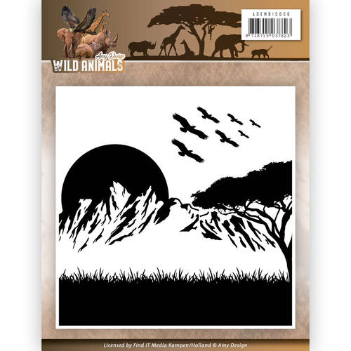 Amy Design - Embossing Folder - Wild Animals