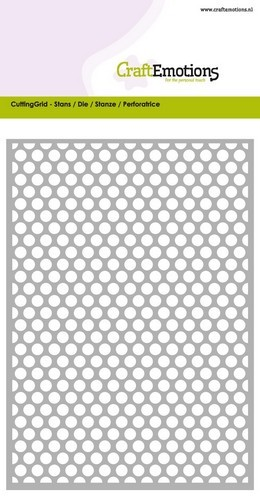 CraftEmotions - CuttingGrid - Dots round