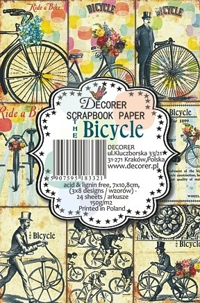 Decorer - Scrapbook Paper Mini - Bicycle