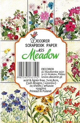 Decorer - Scrapbook Paper Mini - Meadow