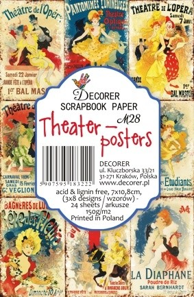 Decorer - Scrapbook Paper Mini - Theater-posters