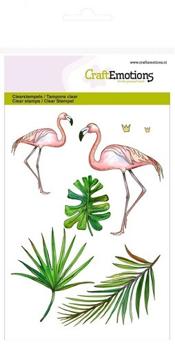 CraftEmotions - Clearstamp - Flamingo
