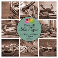 Dixi Craft - Toppers - Wood cutting sepia