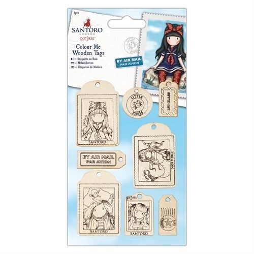 DoCrafts - Santoro's Gorjuss - Colour me wooden tags