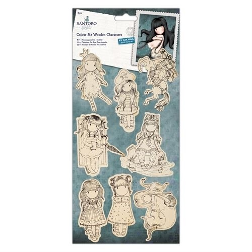 DoCrafts - Santoro's Gorjuss - Colour me wooden characters