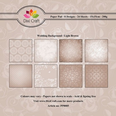 Dixi Craft - Paperpack - Wedding Background Light Brown