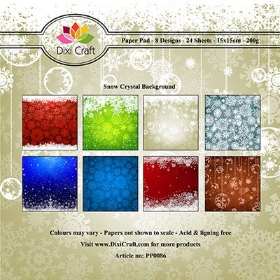 Dixi Craft - Paperpack - Snow crystal background