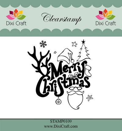 Dixi Craft - Clearstamp - Merry Christmas
