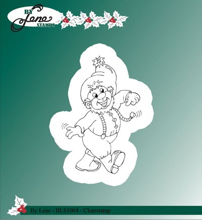 By Lene - Clearstamp - Christmas elves 3