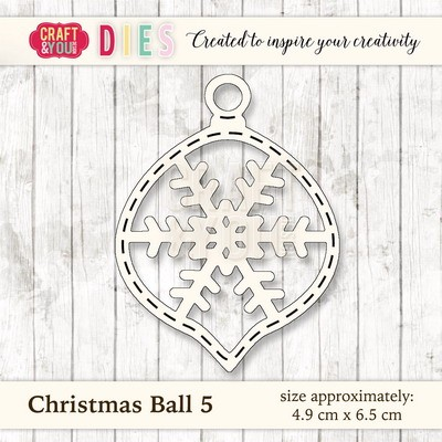 Craft & You Design - Die - Christmas Ball 5