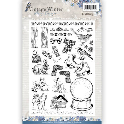 Amy Design - Clear Stamp - Vintage Winter