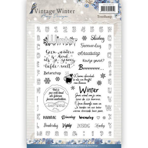 Amy Design - Clear Stamp - Vintage Winter NL