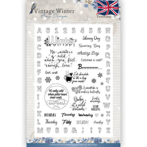 Amy Design - Clear Stamp - Vintage Winter - English