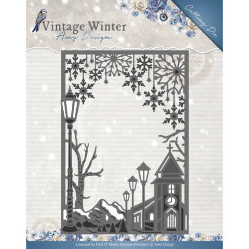 Amy Design - Die - Vintage Winter - Village Frame Straight