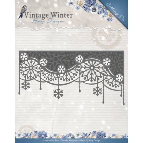 Amy Design - Die - Vintage Winter - Snowflake Swirl Edge