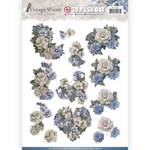Amy Design - Pushout - Vintage Winter - Winter Flowers