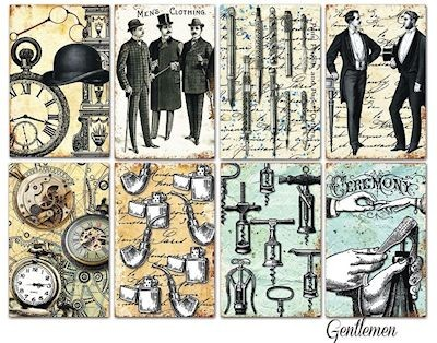 Decorer - Scrapbook Paper Mini - Gentleman