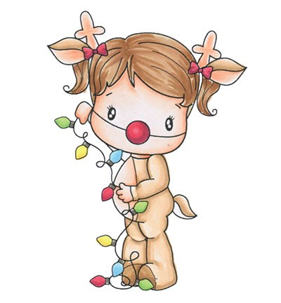 C.C. Designs - Clearstamp - Swiss Pixie  - Reindeer Lucy