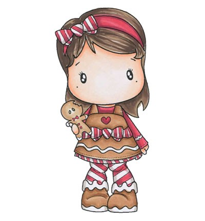 C.C. Designs - Clearstamp - Swiss Pixie - Gingerbread Lucy